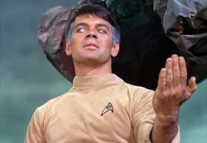 Lt. Cmdr. Gary Mitchell assuming his Godlike powers / TOS